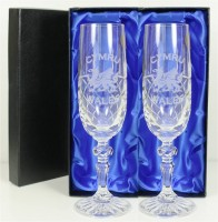 wales crystal champagne glasses
